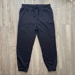 Silk Style Black Dress Joggers Size Large